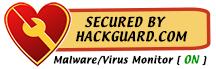 HackGuard.com | Malware Virus Monitor is On